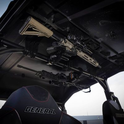 dual 1070 in polaris general with ar15 mounted wth tube mounts in overhead