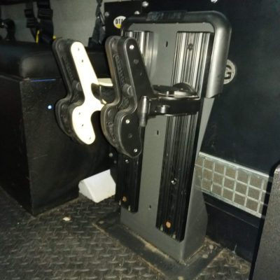 freestand with both a 1082 and 1070 is bolted to the floor of naval vessel