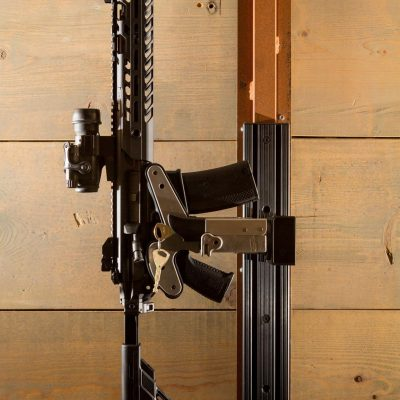 wall mounted 1086 gun rack with t-channel holding sig mdx